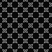 Black and White Flower Symbol Tile Pattern Repeat Background — Stock Photo
