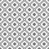 Black and White Maltese Cross Symbol Tile Pattern Repeat Backgro — Stock Photo