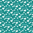 Teal and White I Love Writing Tile Pattern Repeat Background — Stock Photo #74113731