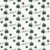 Green and White Medical Marijuana Tile Pattern Repeat Background — Stock Photo