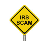 IRS Scam Warning Sign — Stock Photo