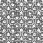 Gray and White Marijuana Tile Pattern Repeat Background — Stock Photo #74779065