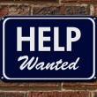 Help Wanted Sign — Stock Photo #75128181