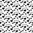 Black and White I Love Writing Tile Pattern Repeat Background — Stock Photo #75128201