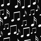 Black and White Music Notes Tile Pattern Repeat Background — Stock Photo