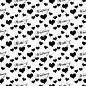 Black and White I Love Writing Tile Pattern Repeat Background — Stock Photo