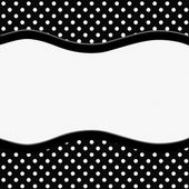 Black and White Polka Dot Background with Ribbon — Stock Photo