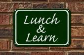 Lunch and Learn Sign — Stock Photo
