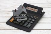 Calculating your mortgage payments — Stock Photo
