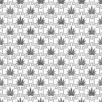 Gray and White Marijuana Tile Pattern Repeat Background — Stock Photo #76140891