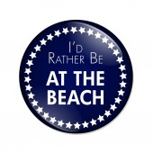 I'd Rather Be At The Beach Button — Stock Photo