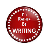 I'd Rather Be Writing Button — Stock Photo