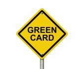 Green Card Warning Sign — Stock Photo