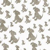 Brown and White Puppy Dog Tile Pattern Repeat Background — Stock Photo