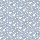 Blue and White I Love Writing Tile Pattern Repeat Background — Stock Photo