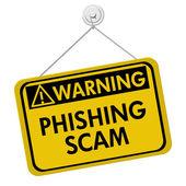 Phishing Scam Warning Sign — Stock Photo