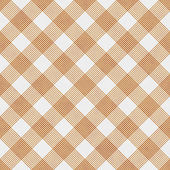Orange and White Striped Gingham Tile Pattern Repeat Background — Stock Photo