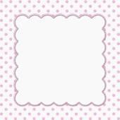 Pink and White Polka Dot Frame Background — Stock Photo