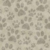Brown Dog Paw Prints Tile Pattern Repeat Background — Stock Photo