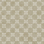 Brown and White Flower Symbol Tile Pattern Repeat Background — Stock Photo
