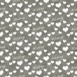 Gray and White I Love Writing Tile Pattern Repeat Background — Stock Photo #76756063