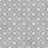 Gray and White Wheel of Dharma Symbol Tile Pattern Repeat Backgr — Stock Photo