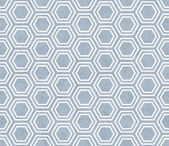 Blue and White Hexagon Tile Pattern Repeat Background — Stock Photo