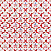 Red and White USA Marijuana Tile Pattern Repeat Background — Stock Photo