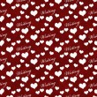 Red and White I Love Writing Tile Pattern Repeat Background — Stock Photo #77966612