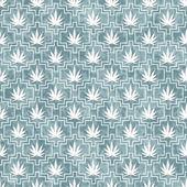 Blue and White Marijuana Tile Pattern Repeat Background — Stock Photo