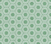 Green and White Hexagon Tile Pattern Repeat Background — Stock Photo