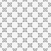 Gray and White Flower Symbol Tile Pattern Repeat Background — Stock Photo