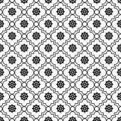 Black and White Wheel of Dharma Symbol Tile Pattern Repeat Backg — Stock Photo