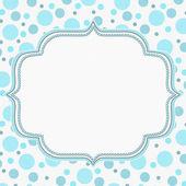 Blue and White Polka Dot Frame Background — Stock Photo