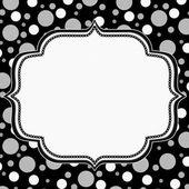 Gray, White and Black Polka Dot Frame Background — Stock Photo