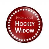 Professional Hockey Widow Button — Stock Photo