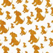 Orange and White Puppy Dog Tile Pattern Repeat Background — Stock Photo