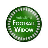 Professional Football Widow Button — Stock Photo