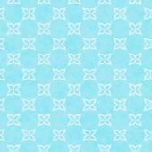 Teal and White Flower Symbol Tile Pattern Repeat Background — Stock Photo