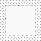 Gray and White Polka Dot Frame Background — Stock Photo
