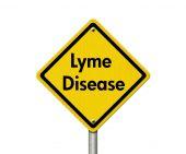 Lyme Disease Warning Road Sign — Stock Photo