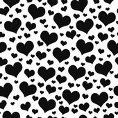 Black and White Hearts Tile Pattern Repeat Background — Stock Photo