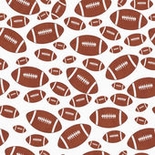 Brown and White Football Tile Pattern Repeat Background — Stock Photo
