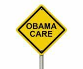 ObamaCare Warning Sign — Stock Photo