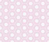 Pink and White Hexagon Tile Pattern Repeat Background — Stock Photo