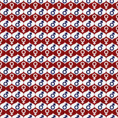 Red, White and Blue Male and Female Gender Symbol Repeat Pattern — Stock Photo