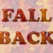 Fall Back Time Change — Stock Photo #81299558