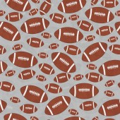 Brown and Gray Football Tile Pattern Repeat Background — Stock Photo