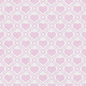 Pink and White Chevron Hearts Tile Pattern Repeat Background — Stock Photo