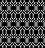 Black and White Hexagon Tile Pattern Repeat Background — Stock Photo